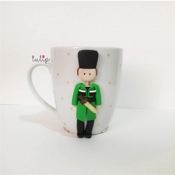 Men Circassian Style Mug - Green