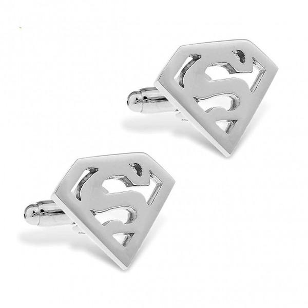 Silver Plated Superman Cufflinks Set