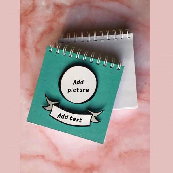 Customizable Green Notebook - White Blank