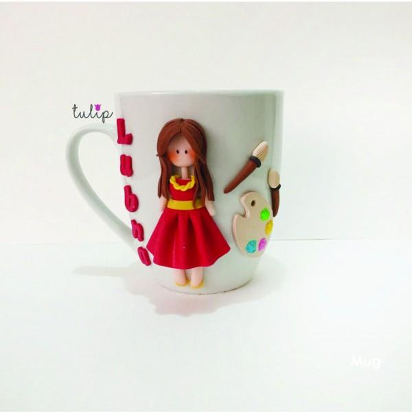 Painter Girl Mug