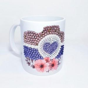 Crystals Encrusted Mug - Romance