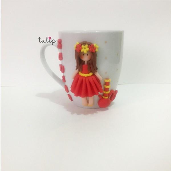 Hookah Girl Mug - Red