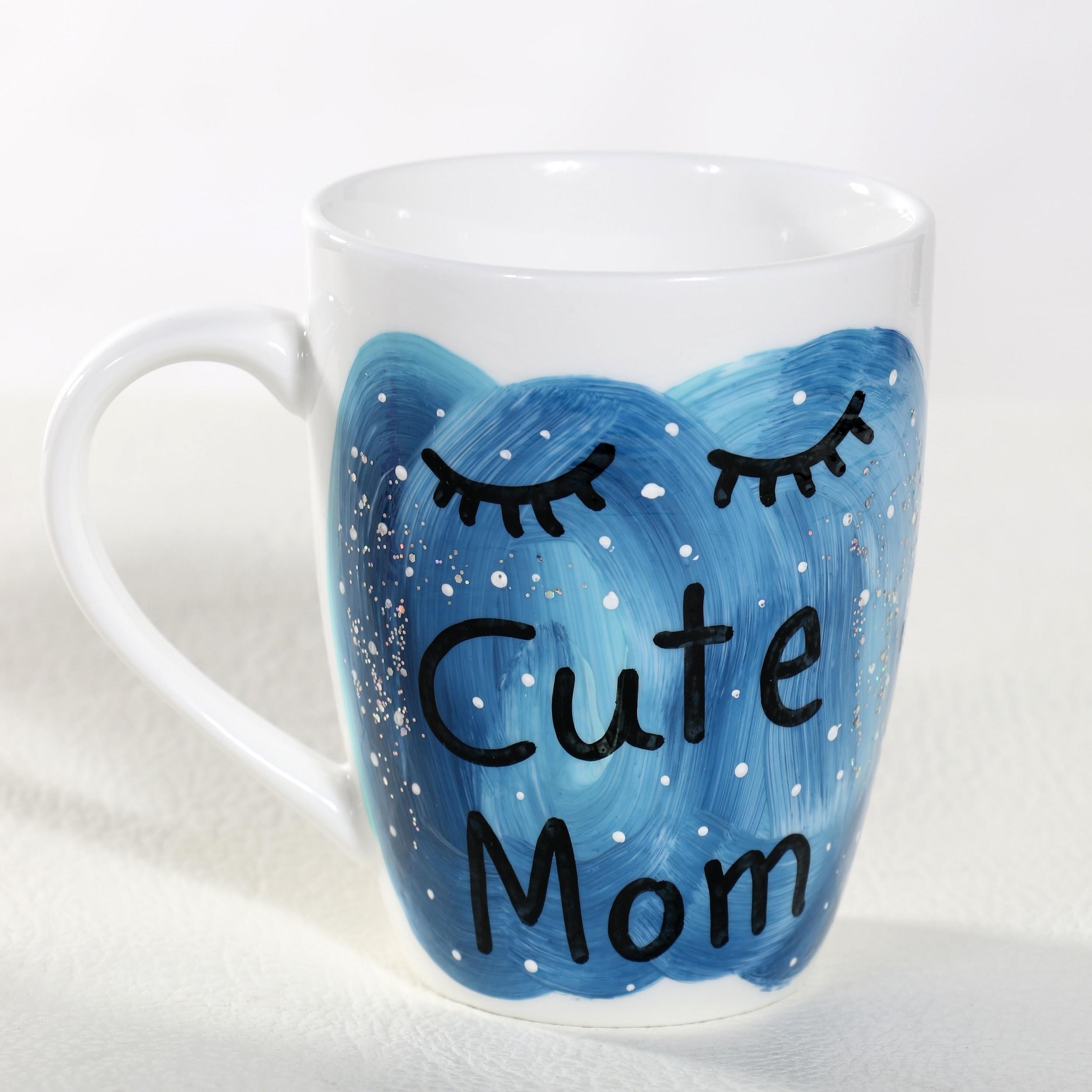 Cute Mom Hand Painted Mug