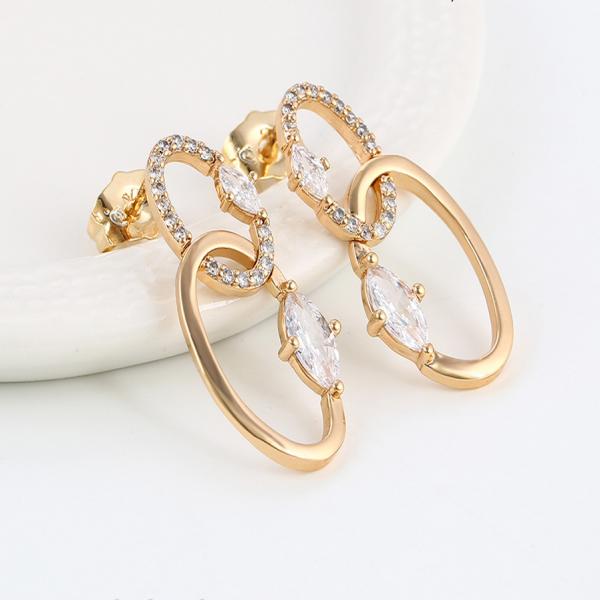 Twist Hoop Gold Plated Earrings