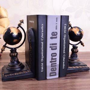 Earth Globe Bookends