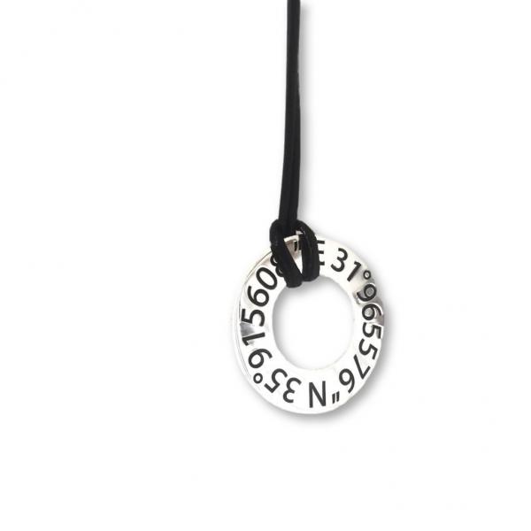 Men's Location Coordinates Necklace
