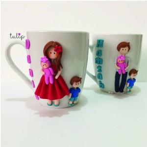 Set of 2 Family Mugs