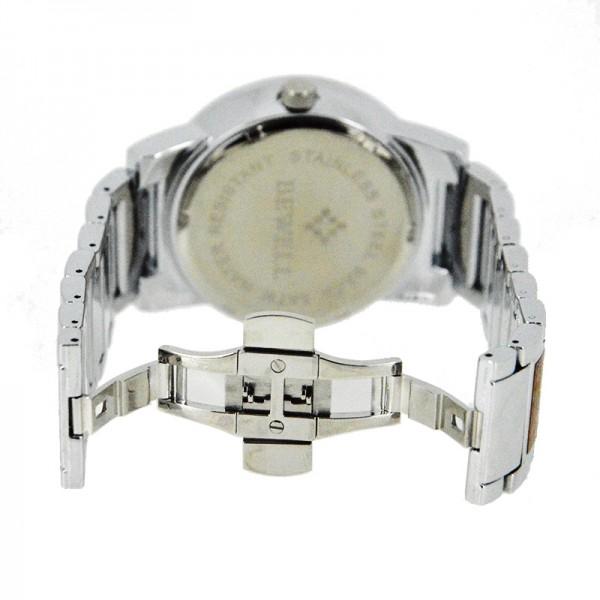 Men's Natural Wood Watch - Brown & Silver