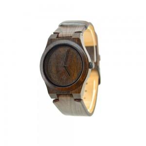 Men's Natural Wood Watch - Dark Brown
