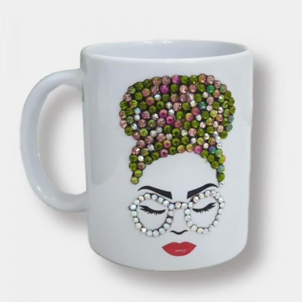 Crystals Encrusted Mug - Formal Lady