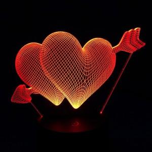 Hearts & Arrow 3D Light