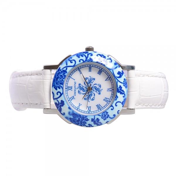 Ladies' Ceramic Watch - Blue & White