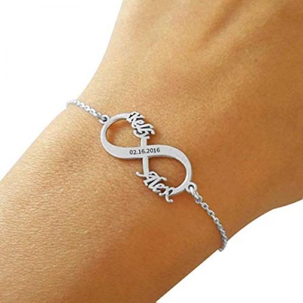 Rhodium Plated Infinity Bracelet