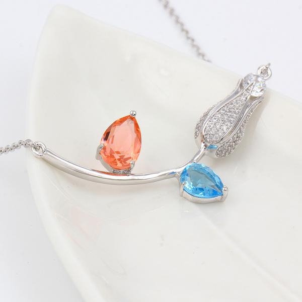 Spring Flower Necklace-Light Color