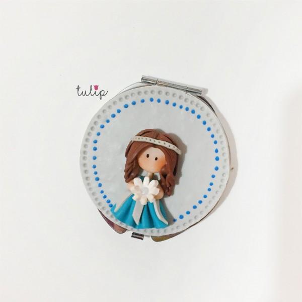 Bride Pocket Mirror - Blue