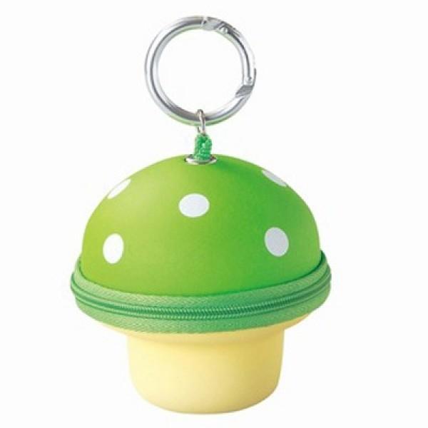 Mushroom Key & Wallet-Green