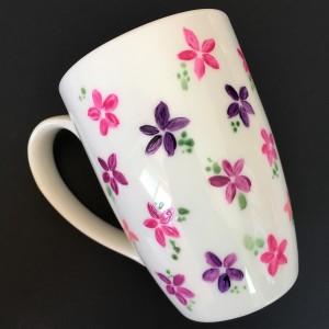 Vintage Floral Hand-Painted Mug
