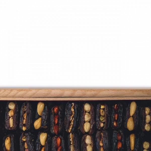Assorted Nuts Stuffed Dates in Rectangular Box - 1.750 Kg