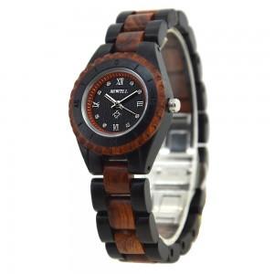 Ladies' Natural Wood Watch - Black & Brown