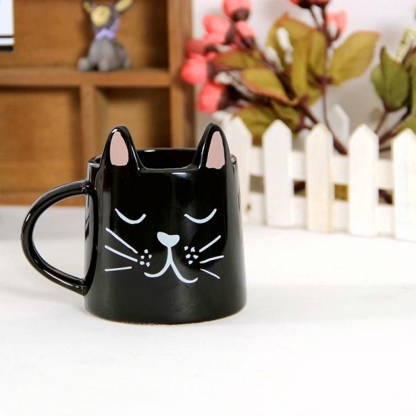 Cat Mug-Black