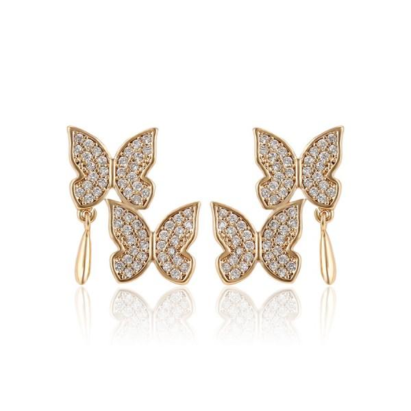 Double-Layer Butterfly Earrings