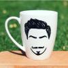 Handsome Man Hand-Painted Mug
