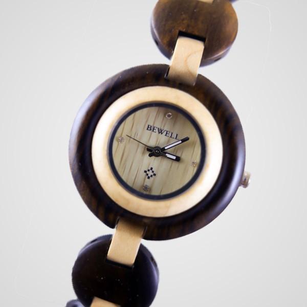 Ladies' Natural Wood Luxury Watch - Brown