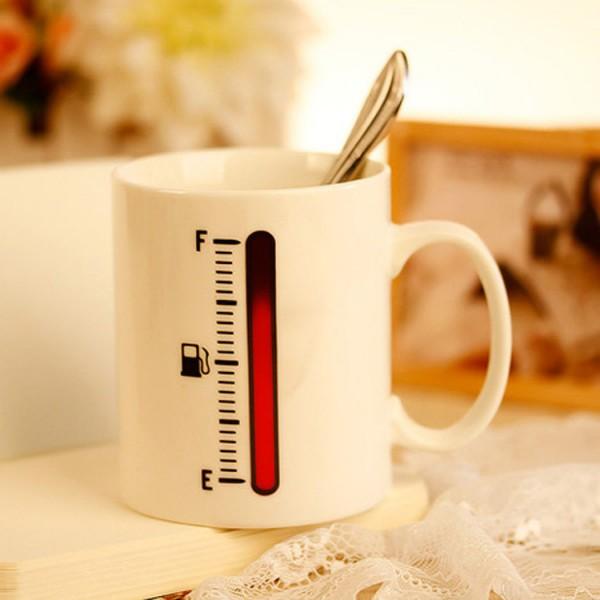 Heat-Sensing Thermometer Mug