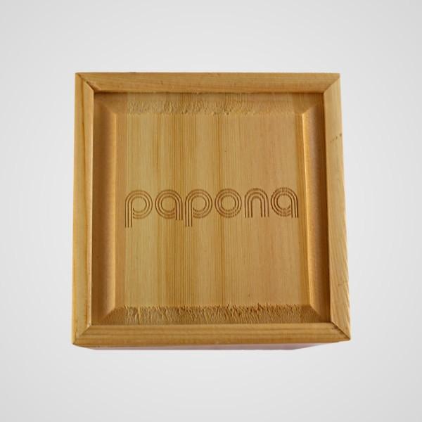papona Natural Wood Watch For Men - Dark Brown