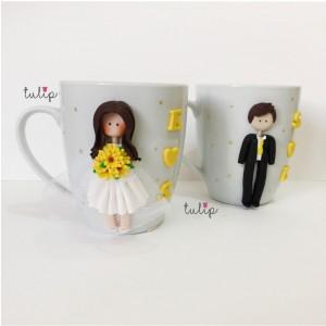Set of 2 Wedding Mugs
