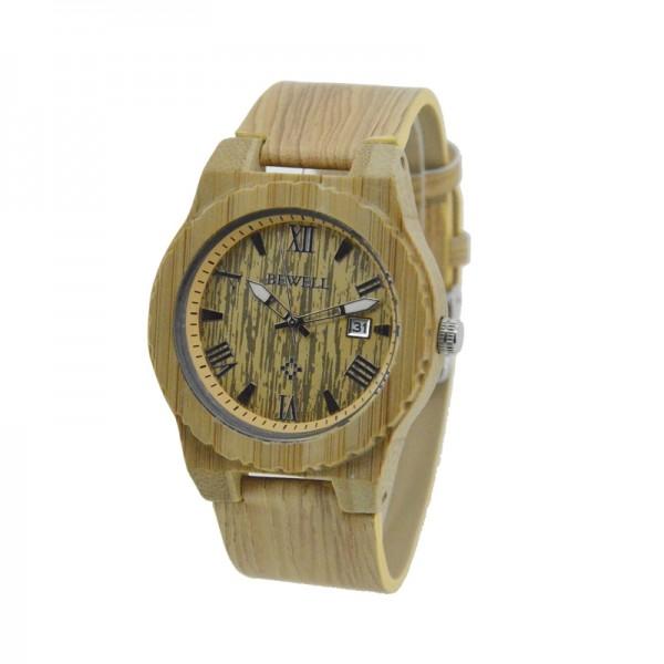 Men's Natural Wood Watch - Beige