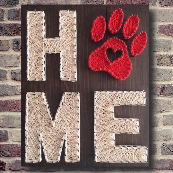 "Handmade ""Home"" Wall Art"