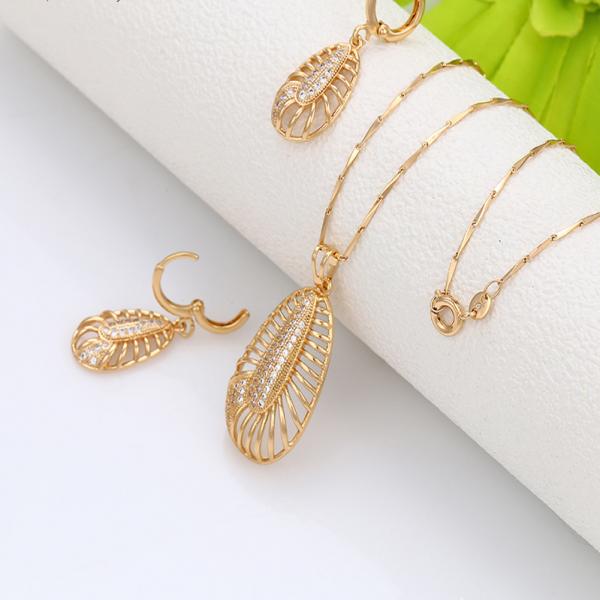 Filigree Oval Earrings & Pendant Set