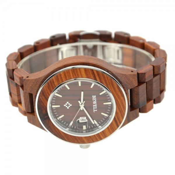 Men's Natural Wood Watch - Maroon