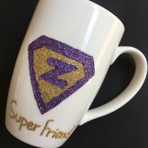 Super Friend Hand-Painted Mug