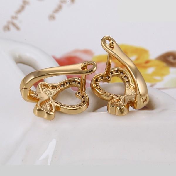 Love Heart Gold Plated Earrings