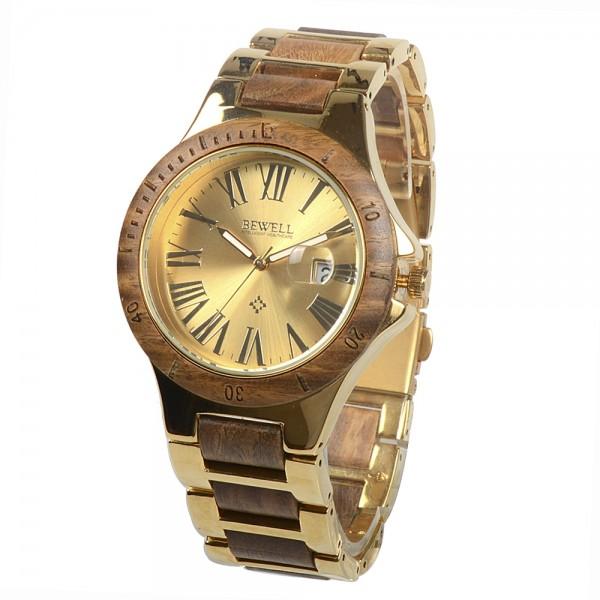 Ladies' Natural Wood Watch - Brown & Gold