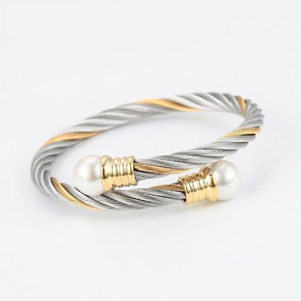 Elegant Twisted Cable Bangle & Ring Set