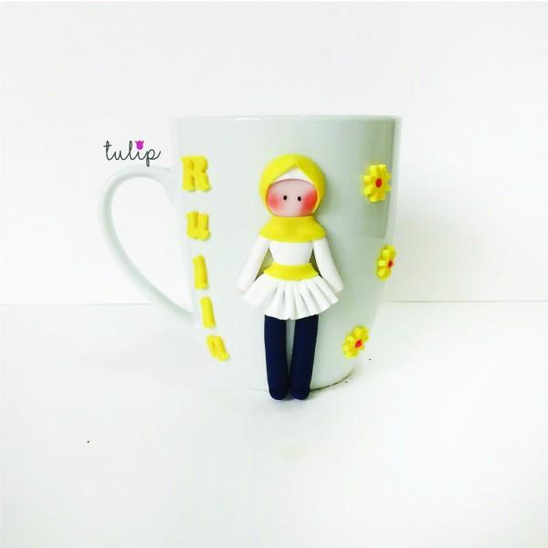 Hijab Style Mug - Yellow