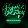 "3D ""Happy Birthday"" Light"