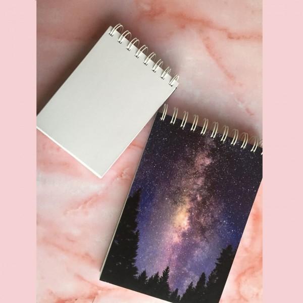 Night Sky Notebook - White Blank