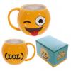 Winky Face Emoji 3D Mug