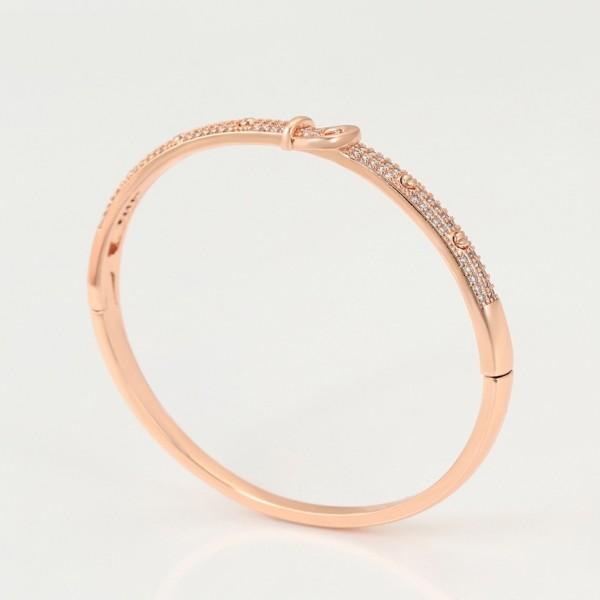 Rose Gold Plated Belt Ring & Bangle Set