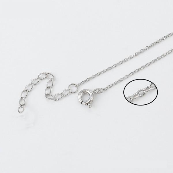 Rhodium Plated Plane Bracelet