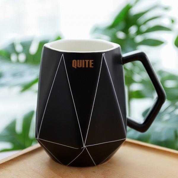 Polygonal Mug-Black