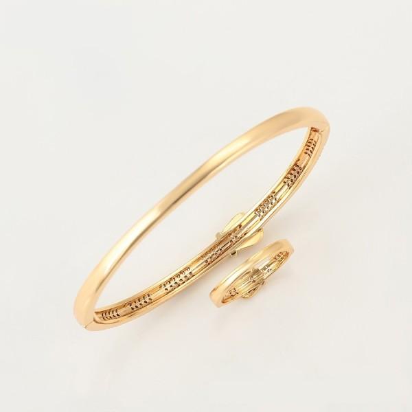 Gold Plated Belt Ring & Bangle Set