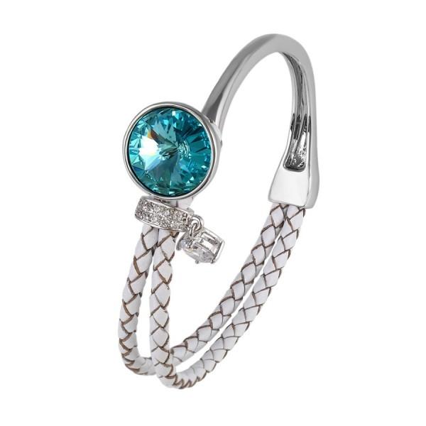 Charms Braided Cuff Bangle-Blue