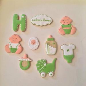 Newborn Cookies - Green
