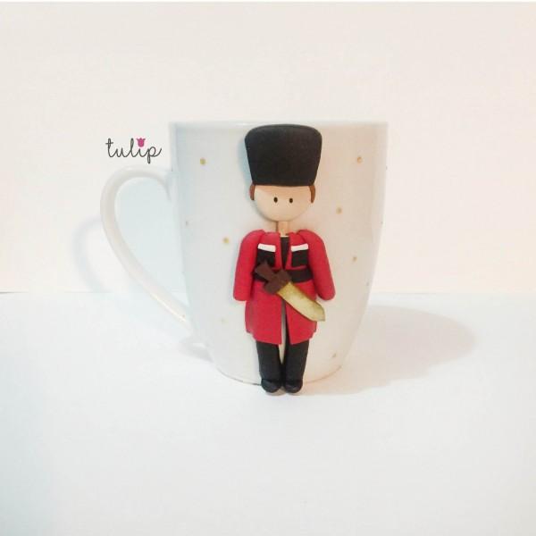 Men Circassian Style Mug - Red