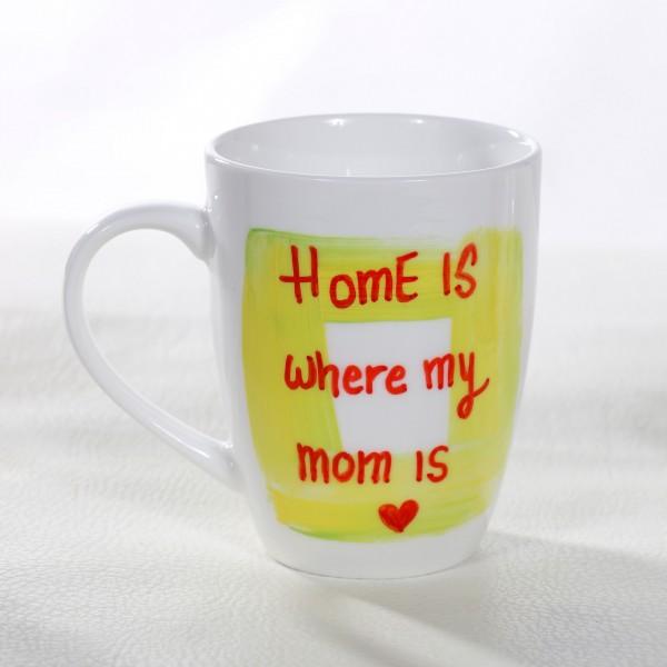 Home is Where Mom is Hand-Painted Mug